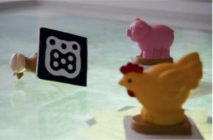 Spielzeugfiguren mit Fiducial-Marker