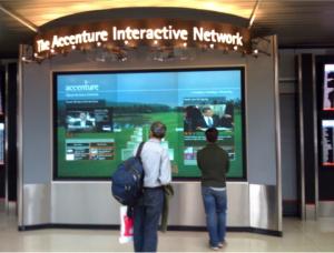 Interaktive Multi-Touch-Wand