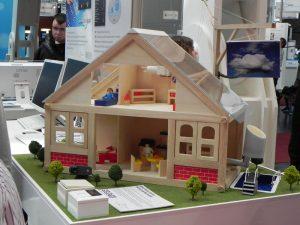 CeBIT 2012 - Smart Home Control, Modellhaus
