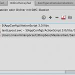 """Menü """"Erweiterte ActionScript 3.0-Einstellungen"""""""